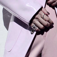 Icicle pinky ring