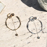 Double hoop pierce / Large (1P)