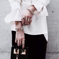 Wire couture bangle