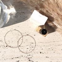 Halo hoop pierce (Large/2P) / Gold