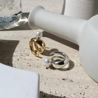 Neo coil round pearl ring