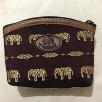 象柄の財布 ブラウン