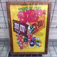 木製フレームポスターL  m&m'sカラフルPACKS OF FUN FOR EVERY ONE!