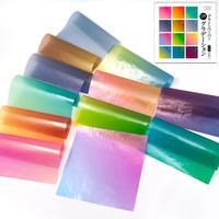 グラシン紙|グラデーション 12種アソート|折り紙サイズ|透けるデザインペーパー