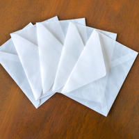 グラシン封筒【10枚入 中ヨコ型】162×114mm|白無地 ダイヤ貼り 洋形2号 ポストカード ハガキサイズ ウェディング 透ける