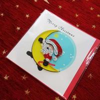 pc37s   ★立体的なデザインがかわいい!ベトナムペーパークイリングカード(クリスマス)  Sサイズ