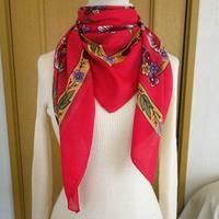 turcl16   繊維の宝庫トルコのふわっと軽いコットンスカーフ(コーラル)L