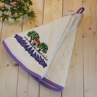 pv-towel025 ★機能性、デザイン性抜群!プロヴァンスの豊かな自然をモチーフにした円形タオル(オリーブの木ホワイト)