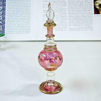 pl6-1★ガラスのエジプト香水瓶 ミディアムサイズ  (ピンク)