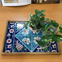 tilek72-1      ★小物やミニ観葉植物などのトレー代わりに!トルコ手描きのキュタフヤタイル