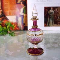 pl6-1★ガラスのエジプト香水瓶 ミディアムサイズ  (パープル)