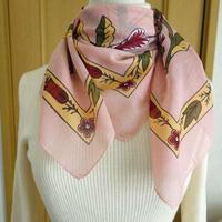 turc10   繊維の宝庫トルコのふわっと軽いコットンスカーフ(コーラルピンク)M