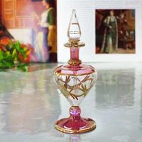 pl7-1★ガラスのエジプト香水瓶 ミディアムサイズ  (ピンク)
