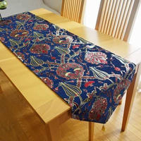 ★tta-73トルコデザインテーブルランナー(イズニックネイビー)約180cm×43cm