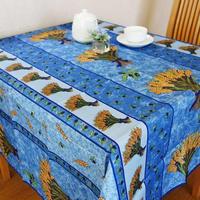 pv006-150           プロヴァンス テーブルクロス 正方形150×150(ホップ ブルーデザイン)