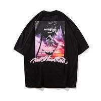 オーバーサイズ デザイン 黒 Tシャツ