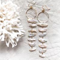 14KGF Moonbow Line earrings