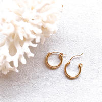 14KGF Hoop Earrings 15mm