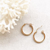 14KGF Hoop Earrings 22mm