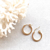 14KGF Hoop Earrings 18mm