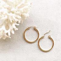 14KGF Hoop Earrings 27mm