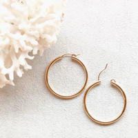 14KGF Hoop Earrings 34mm