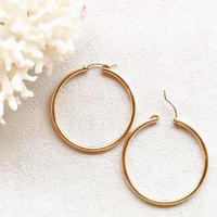14KGF Hoop Earrings 50mm