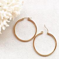 14KGF Hoop Earrings 42mm