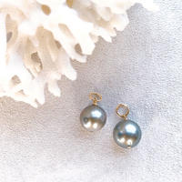 14KGF Tahitian Pearl  silver color Charms