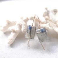 14KGF Kyanite Short HooK Eariings