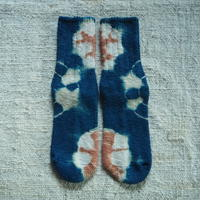 A HOPE HEMP Hemp Cotton Socks(小)【すくも藍×梅】