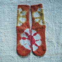 A HOPE HEMP Hemp Cotton Socks(小)【インド茜×柘榴】