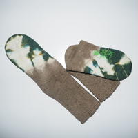 Hemp Cotton Socks(鶯茶色×深緑色)