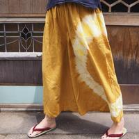 A HOPE HEMP Hemp Organic Cotton Gather Wide Pants(柘榴×ハルジオン)