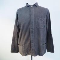 A HOPE HEMP Hemp Flannel Fly Front Shirt Jaket(矢車×柘榴×赤麻)