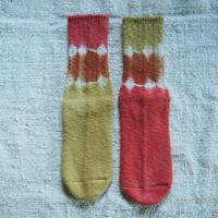 A HOPE HEMP Hemp Cotton Socks (大) 【柘榴×インド茜】