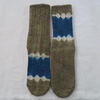 YOUstandard Hemp Cotton Socks(大) (蓬×インド藍)