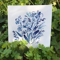 ポストカード ガーデン ブルー