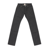 Basic Straight Jeans - Black -