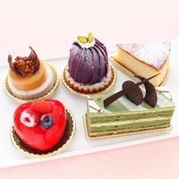 オールデイダイニングカリフォルニア【アソートケーキ5種】 オールデイダイニングカリフォルニアから限定販売。人気のケーキ5種をお届けいたします。5種類の内容はホテルおまかせとなります。
