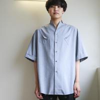 KONYA / ストライプシャツ / gray