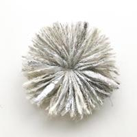 HIKARI 大粒ブローチ / white gray mix