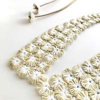 HIKARI つけ襟 / white&gold reversible