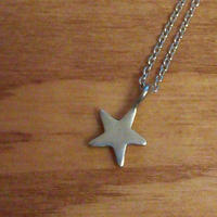 ☆のネックレス silver925 ひとつぶの星