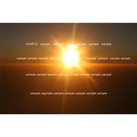 デジタル写真データ 飛行機から見た太陽