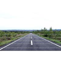北海道の真っ直ぐな道 straight road in Hokkaido  デジタル写真データ  digital photo data