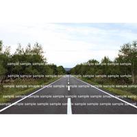 北海道 霧多布 真っ直ぐな道  Straight road in Hokkaido デジタル写真データ digital photo data