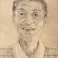 肖像画注文制作 A4パネル