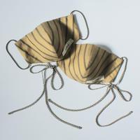 |美フェイス|souhal洗える立体マスク|日本製2枚set│女性用│マスタード×カーキ│(品番K80)|送料無料・代引き手数料無料|※内側ガーゼ  (抗菌消臭効果・防虫効果)