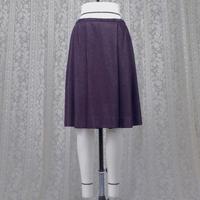 ラメ紫ローウエスト ソフトプリーツスカート (ラメ紫) F34N